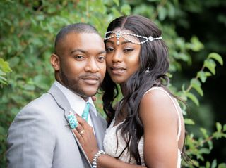 The wedding of LaToya and Marvin