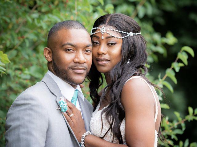 The wedding of LaToya and Marvin