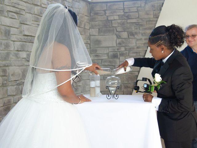 Kennesha and Shelamaze's wedding in Scarborough, Ontario 1