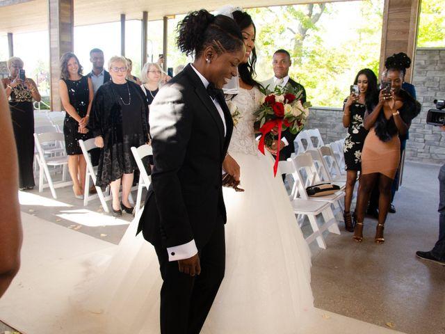 Kennesha and Shelamaze's wedding in Scarborough, Ontario 2
