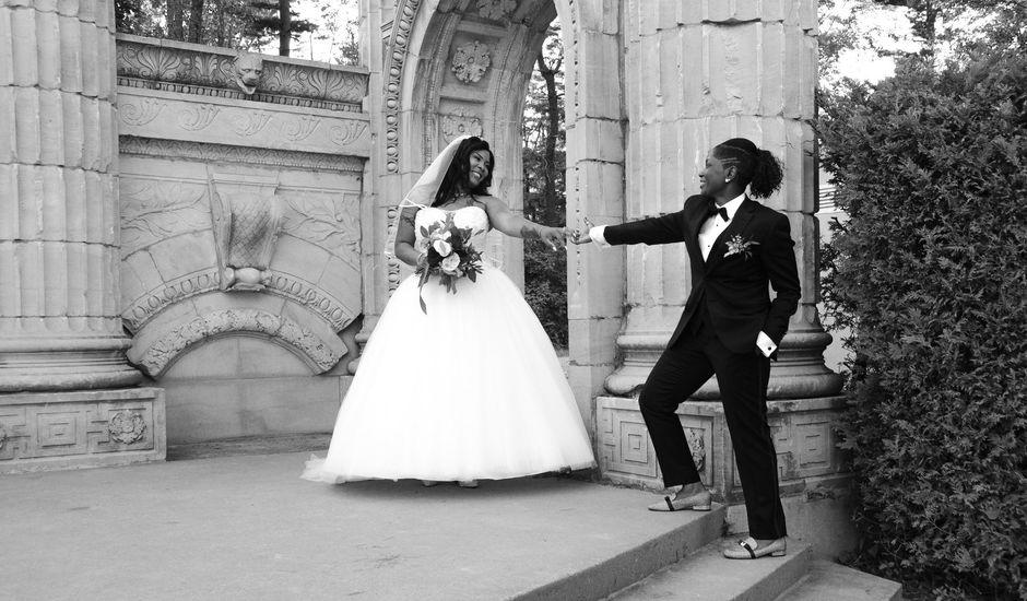 Kennesha and Shelamaze's wedding in Scarborough, Ontario