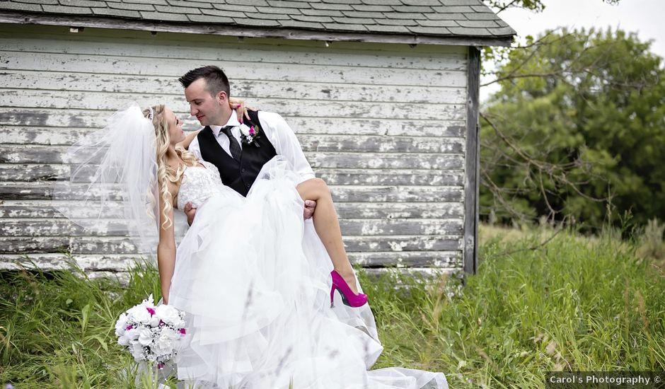 Devin and KristJana's wedding in Benito, Manitoba