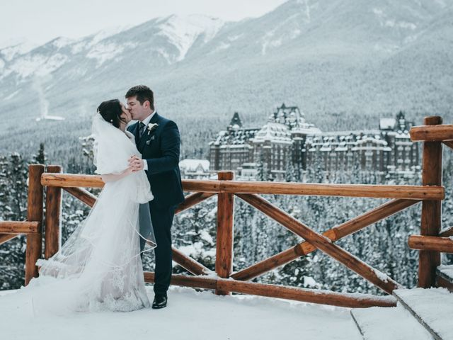 Cortland and Amanda's wedding in Banff, Alberta 2