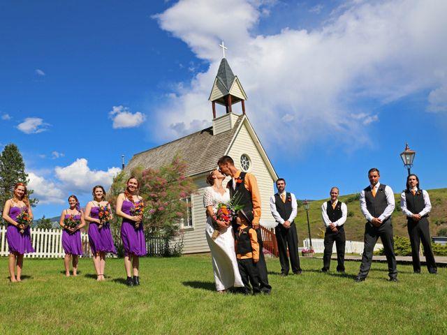 Tyson and Tamra's wedding in Vernon, British Columbia 1