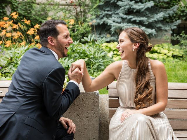 The wedding of Caroline and Mike