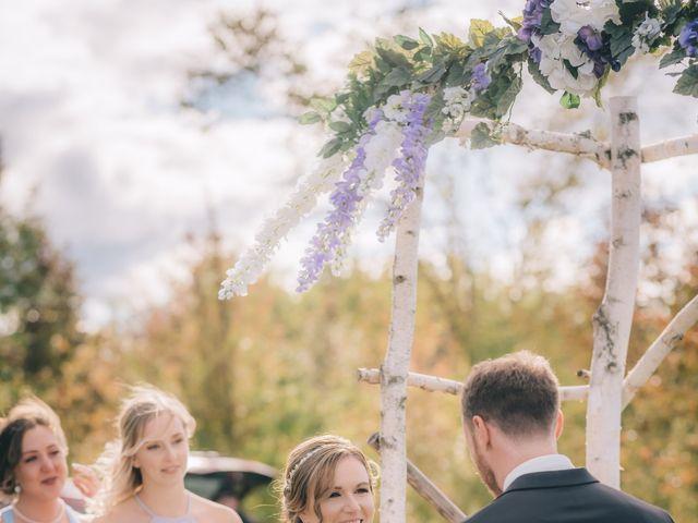 Daniel Collet and Holly Daniel's wedding in Roseneath, Ontario 3