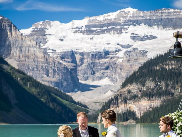 Brant and Cameron's wedding in Lake Louise, Alberta 7