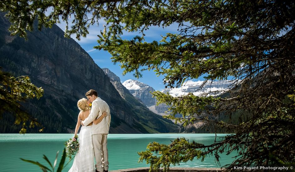 Brant and Cameron's wedding in Lake Louise, Alberta