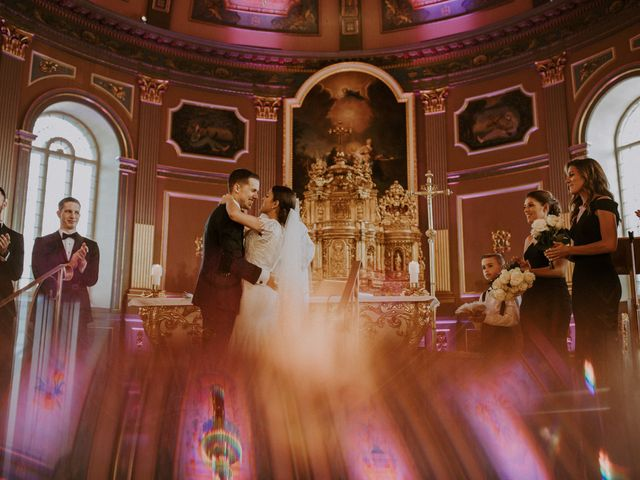 Alexandre and Catherine's wedding in La Prairie, Quebec 1