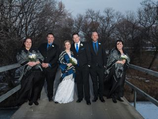 The wedding of Dawn and Chris