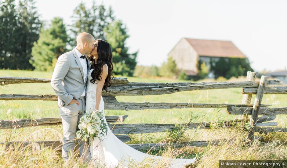 Barry and Chantelle's wedding in Caledon, Ontario