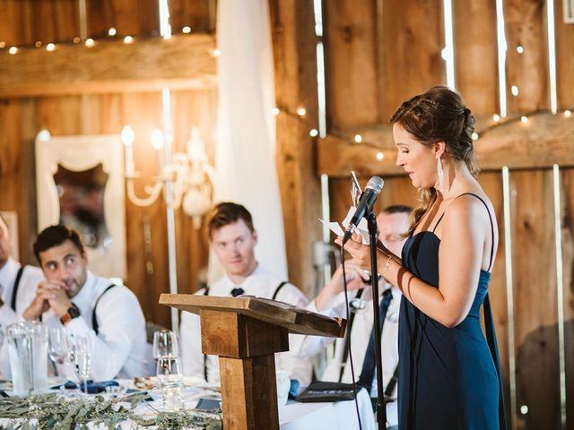 Derek and Cydnie's wedding in Cavan, Ontario 111