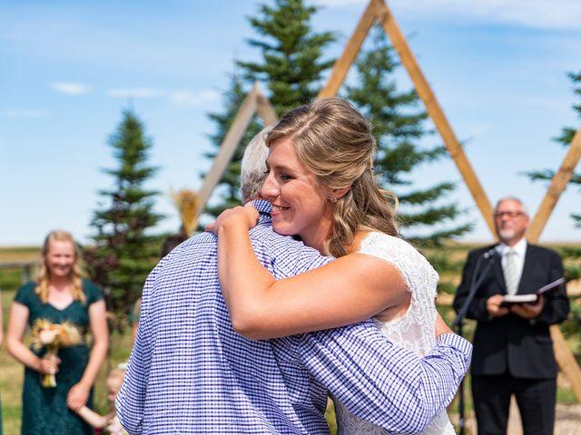 Kaela and Andrew's wedding in Gleichen, Alberta 16