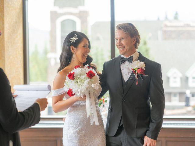 Nicole and Brad's wedding in Banff, Alberta 17