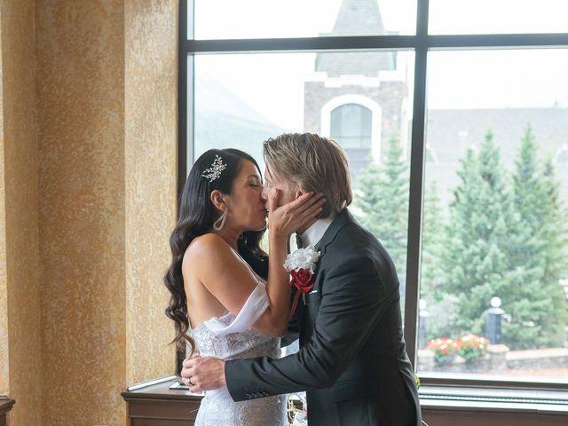 Nicole and Brad's wedding in Banff, Alberta 22