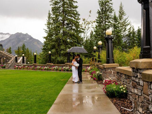 Nicole and Brad's wedding in Banff, Alberta 41