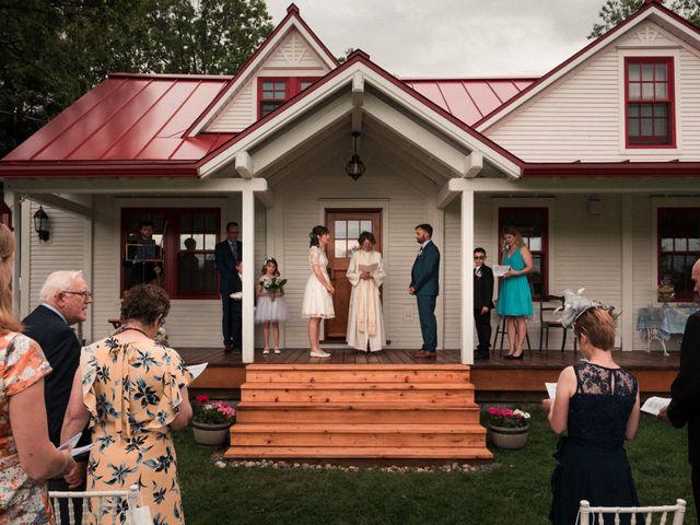 Jason and Gloria's wedding in Otterburn Park, Quebec 1