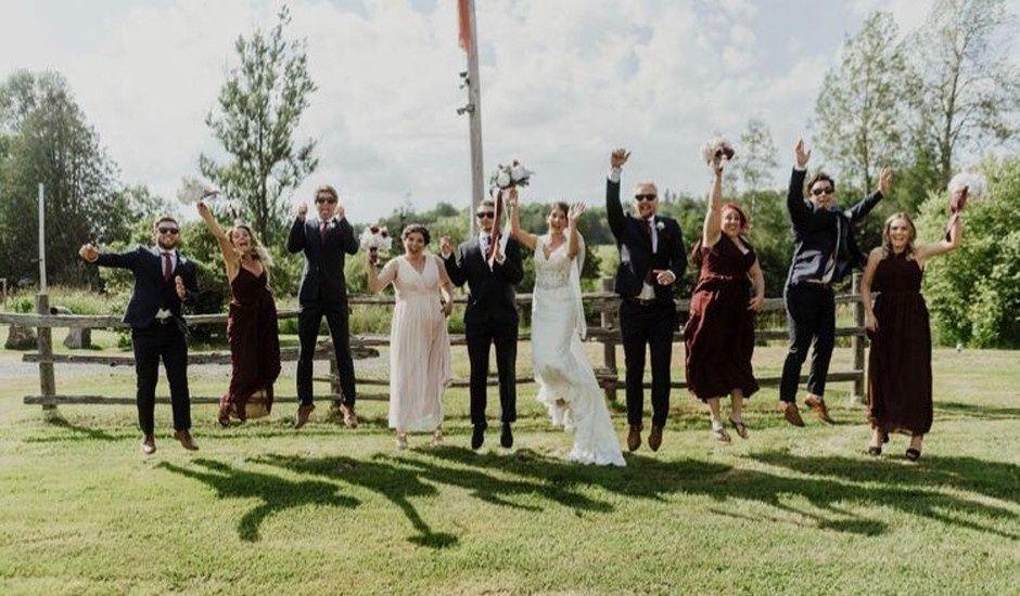 Ben and Cassie's wedding in Huntsville, Ontario
