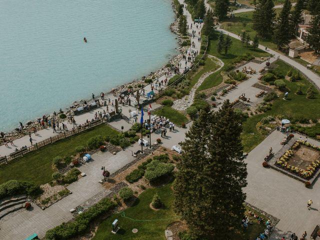 Brady and Rachel's wedding in Lake Louise, Alberta 1