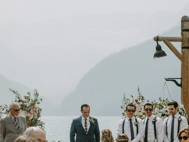 Brady and Rachel's wedding in Lake Louise, Alberta 14