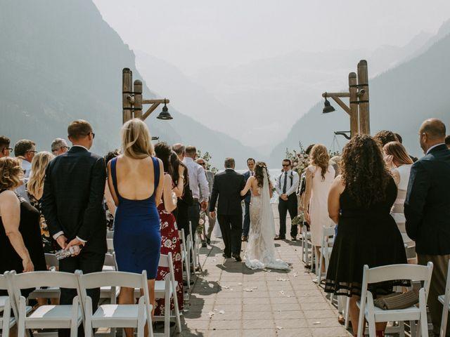 Brady and Rachel's wedding in Lake Louise, Alberta 18