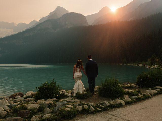Brady and Rachel's wedding in Lake Louise, Alberta 25