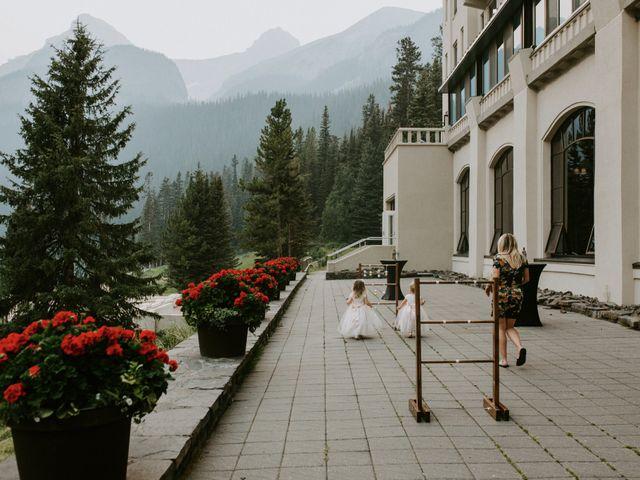 Brady and Rachel's wedding in Lake Louise, Alberta 31