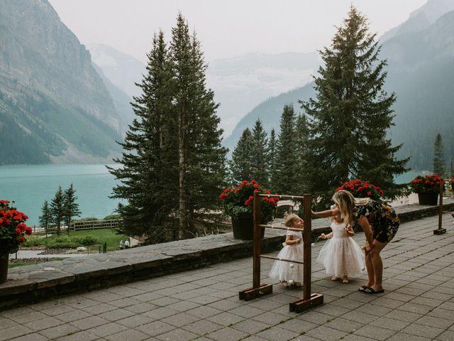 Brady and Rachel's wedding in Lake Louise, Alberta 32