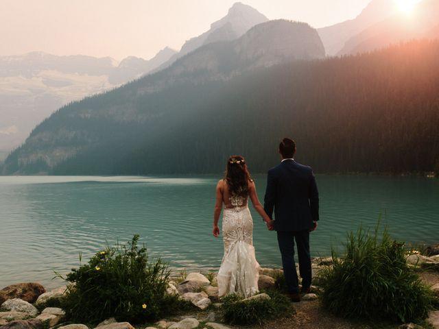 Brady and Rachel's wedding in Lake Louise, Alberta 38