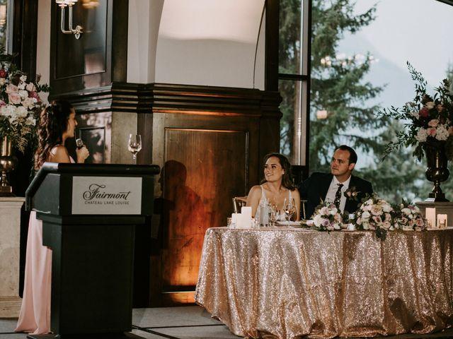 Brady and Rachel's wedding in Lake Louise, Alberta 39