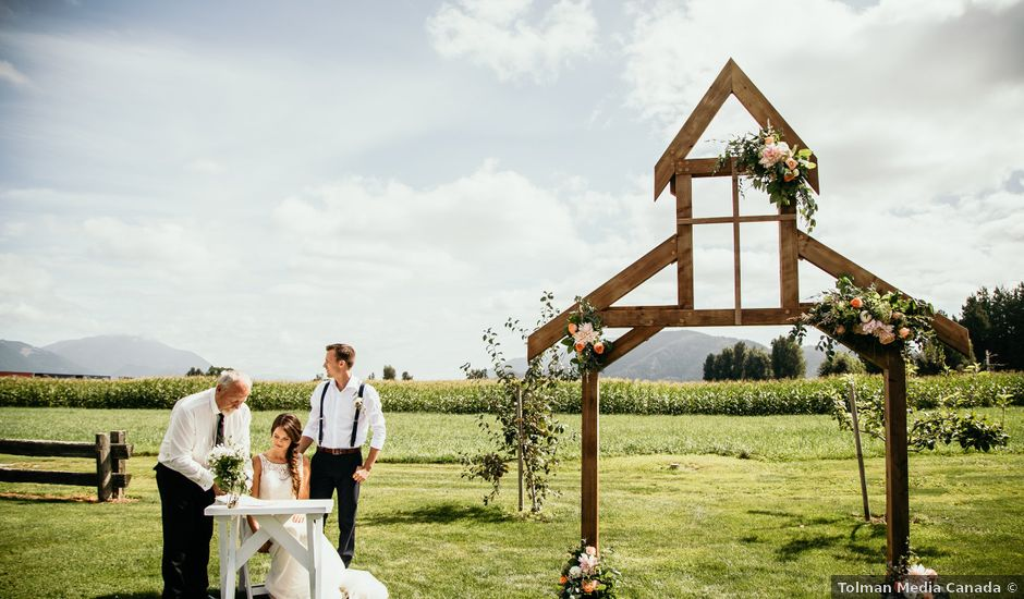 Dave and Taleah's wedding in Chilliwack, British Columbia