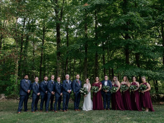AJ Merrick and Noelle Cyr's wedding in Grimsby, Ontario 4