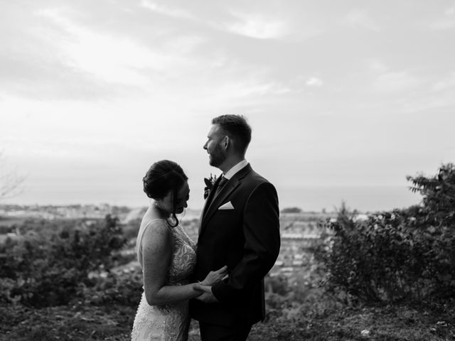 AJ Merrick and Noelle Cyr's wedding in Grimsby, Ontario 6