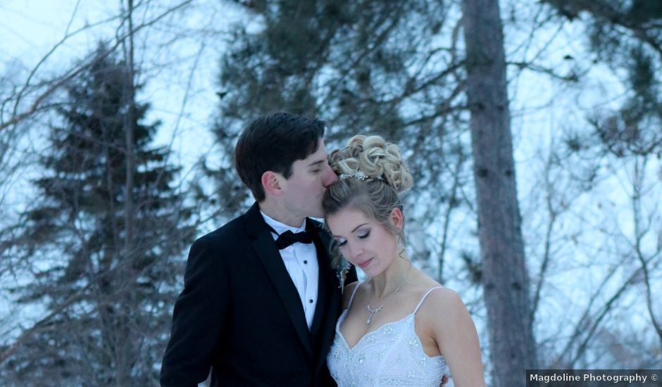 Andrew and Megan's wedding in Kingsey Falls, Quebec