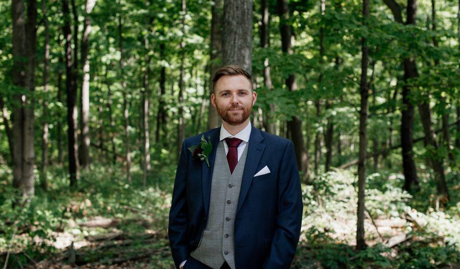AJ Merrick and Noelle Cyr's wedding in Grimsby, Ontario