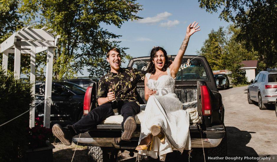 Kyle and Serena's wedding in Roseneath, Ontario