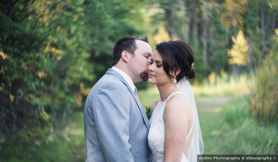 Steve and Kelsey's wedding in Waskesiu Lake, Saskatchewan