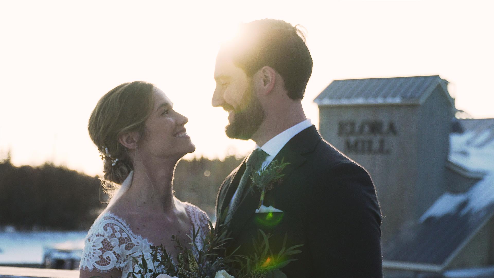 Kyrie and Elias's wedding in Elora, Ontario