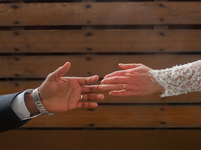 The wedding of Christine and Pradhan