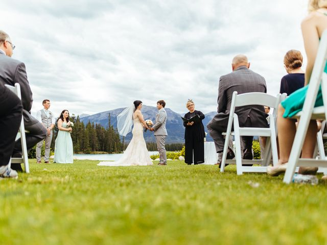 Graeme and Stephanie's wedding in Jasper, Alberta 17