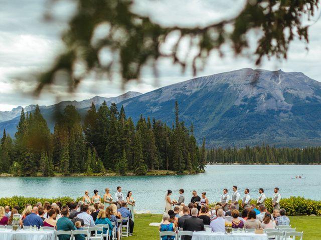 Graeme and Stephanie's wedding in Jasper, Alberta 20