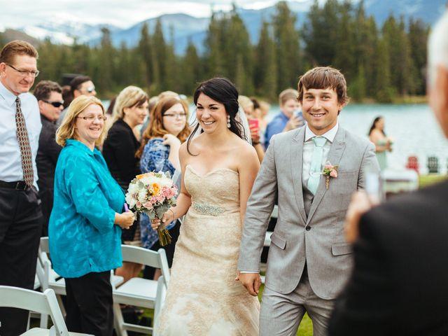 Graeme and Stephanie's wedding in Jasper, Alberta 22