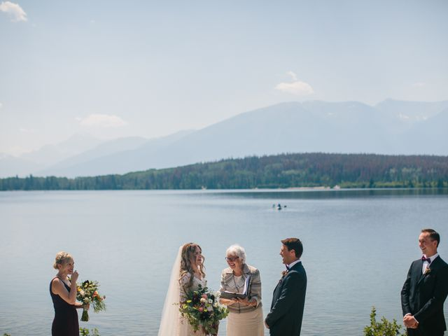 Paul and Krysten's wedding in Jasper, Alberta 16