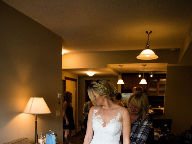 Riley Frame and Kimberly White's wedding in Canmore, Alberta 11