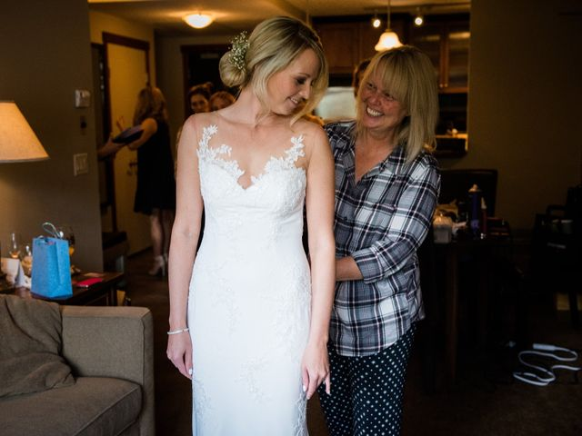 Riley Frame and Kimberly White's wedding in Canmore, Alberta 12