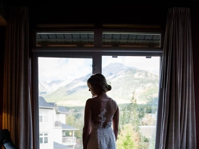 Riley Frame and Kimberly White's wedding in Canmore, Alberta 13