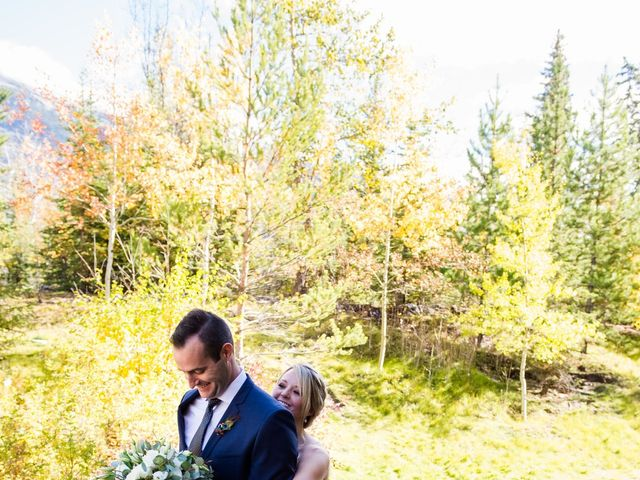 Riley Frame and Kimberly White's wedding in Canmore, Alberta 24