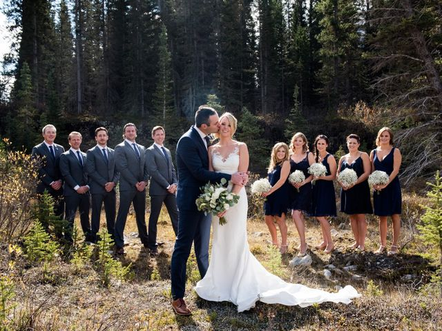 Riley Frame and Kimberly White's wedding in Canmore, Alberta 27