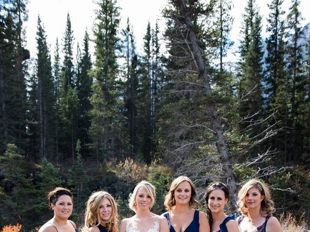 Riley Frame and Kimberly White's wedding in Canmore, Alberta 28