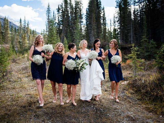 Riley Frame and Kimberly White's wedding in Canmore, Alberta 30